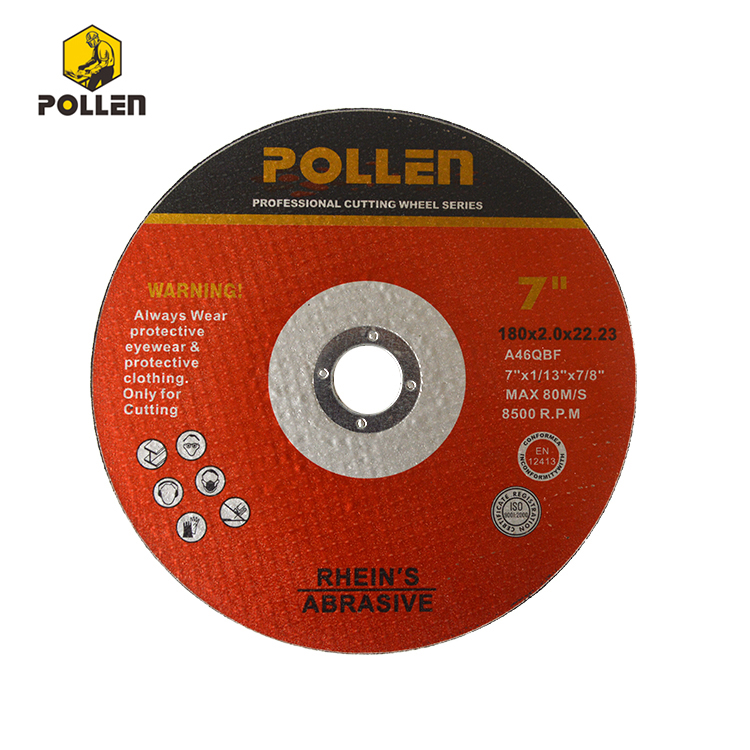 180mm Diameter, 2.5mm Thickness, 22.23 Arbor Size, Cutoff Wheel A30S