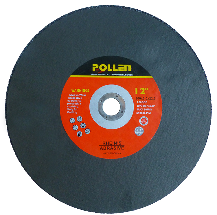 "12""x1/8""x7/8"" Arbor Size, Portable Cut Off Wheel,Mansonry High Speed C24, Silicon, 80m/s"